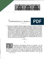 Introducción de La Imprenta en América-México