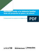 Abordaje Frente a La Violencia Familiar - UNICEF