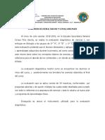 Análisis Del Examen de Diagnostico - BIOLOGIA 2018