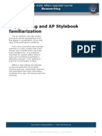 AP Stylebook and Copy Editing