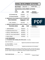 OJT Form-Professional Development Activities