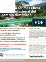 Climate Change Professional Fellows Program - Spanish