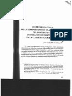 Las Prerrogativas de La Administración y Las Garantías Del Contratista - Morón Urbina