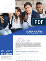2018 Calvert High School Program Guide
