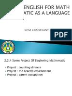 English for Math