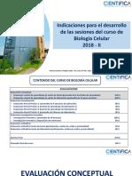 Indicaciones Para El Desarrollo Del Curso de Biologia Celular 2018 -II(2) (1)