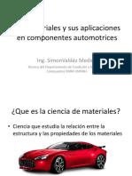 Los Materiales y Sus Aplicaciones en Componentes Automotrices