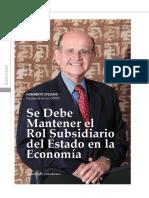 Rol subsidiario del Estado en la Economía