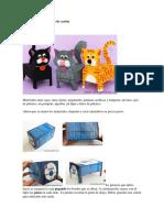 Animalitos Con Cajas de Cartón