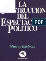 La Construccion Del Espectaculo Político - Murray Edelman