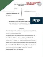 Andrew C. Durham v. Preservation Delaware, Inc. and Dee Durham
