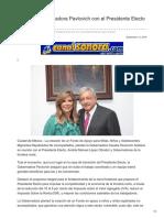 12-09-2018-Se reúne Gobernadora Pavlovich con el Presidente electo López Obrador - Canal Sonora