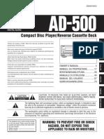 Deck CD Teac Ad 500