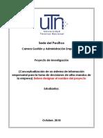 II Avance Proyecto - Grupo (Colocar Número)