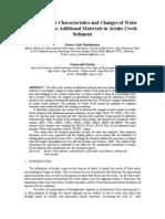 Water Quality Sedimentation Characteristics