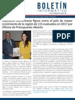 Boletín de la Dirección General de Presupuesto de la Rep. Dominicana 02/2018