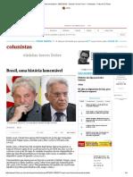 Brasil, Uma História Lamentável - 25-01-2018 - Vinicius Torres Freire - Colunistas - Folha de S