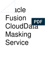 Oracle Fusion CloudData Masking Service
