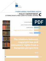 European Parliament - The Relations Between Copyright Law and Consumers' Rights From a European Perspective