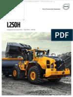 Catalogo Cargador Frontal l250h Volvo Caracteristicas Beneficios Detalles Dimensiones Especificaciones Equipamiento