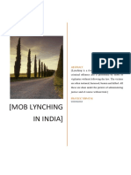 Mob Lynching in India