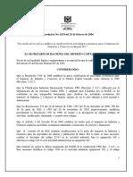 Resol. 219 2004 Codigos CIIU-ICA