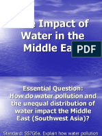 unequal distribution of water and pollution  1 middle east