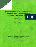 Proyecto de Cooperación Tecnica Para El Desarrollo de Las Capacidades de Los CAT's en Guatemala, JICA