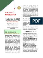 Rotary Newslwetter Sept. 25 Edited