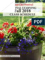 Festival Learning Fall Class 2018 Catalog