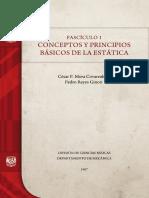 CONCEPTOS Y PRINCIPIOS BÁSICOS DE LA ESTÁTICA. FASCICULO 1