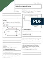 Calcul de Périmètres Cercle 6ème Exercices à Imprimer