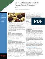 Analisis de Cadmio en Chocolate Por AA