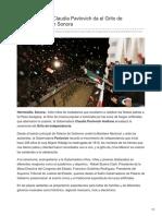 15-09-2018 - La Gobernadora Claudia Pavlovich Da El Grito de Independencia en Sonora - Tribuna