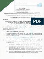Ley Modificatoria 1069