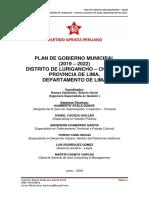 Plan Partido Aprista Peruano
