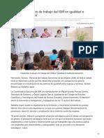 15-09-2018-Capacitan a equipo de trabajo del ISM en igualdad e institucionalización - OpinionSonora