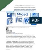 10 ótimas dicas para você usar no programa Microsoft Word.docx