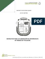 Instructivo Para Elaboración de Anteproyecto de Titulación (1)