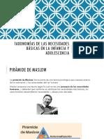 Taxonomías de Las Necesidades Básicas en La Infancia y Adolescencia