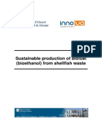 Sustainable Production of Biofuel Bioethanol From Shellfish Waste