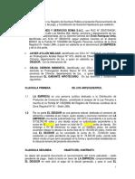 Reconocimiento de Deuda Con Garantía Hipotecaria - Roma Con Ayllón