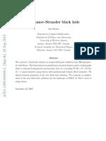 Klebanov-Strassler Black Hole