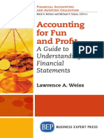 Accounting for Fun and Profit. a Guide to Understanding Financial Statements - Lawrence a. Weiss