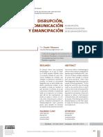 Villamayor - Disrupcion Comunicacion y Emancipacion