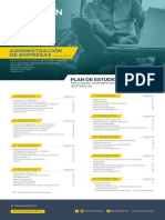 Plan de Estudios Administracion de Empresas Distancia