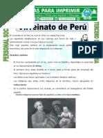 Ficha Virreinato de Peru Para Tercero de Primaria