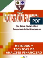 Unidad 2 RATIOS Admnistracion Financiera 2018
