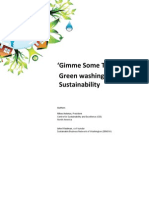 Gimme Some Truth Green Washing vs. Sustainability (J. Friedman. N. Avlonas, 2010)