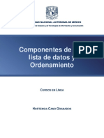 Componentes de Una Lista de Datos y Ordenamiento